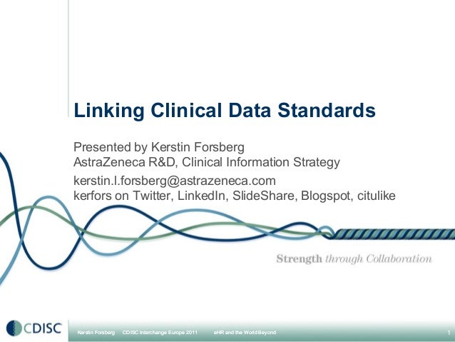 Linking clinical data standards