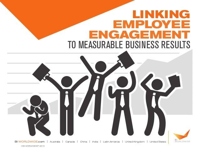 Linking Employee Engagement