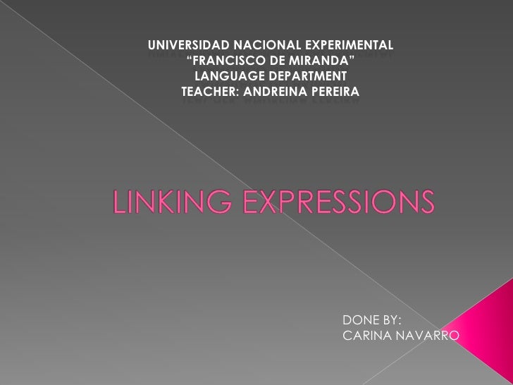 "Universidad nacional experimental <br />""francisco de Miranda"" <br />Language department<br />Teacher: andreina Pereira<br..."