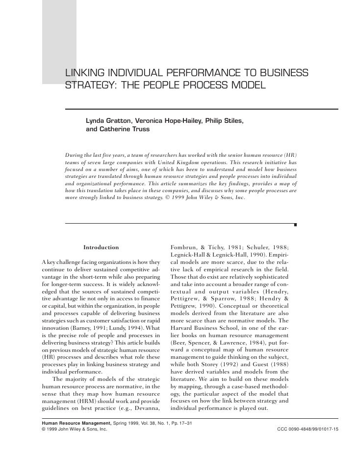 Linking Individual Performance to Business Strategy   •   17               LINKING INDIVIDUAL PERFORMANCE TO BUSINESS     ...