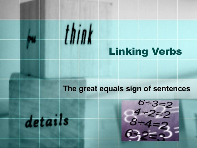 Linking verbs ppt