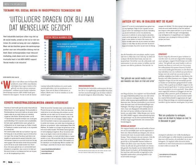 Link magazine juni 2013 - Toename rol social media in inkoopproces technische b2 b - martin van zaalen