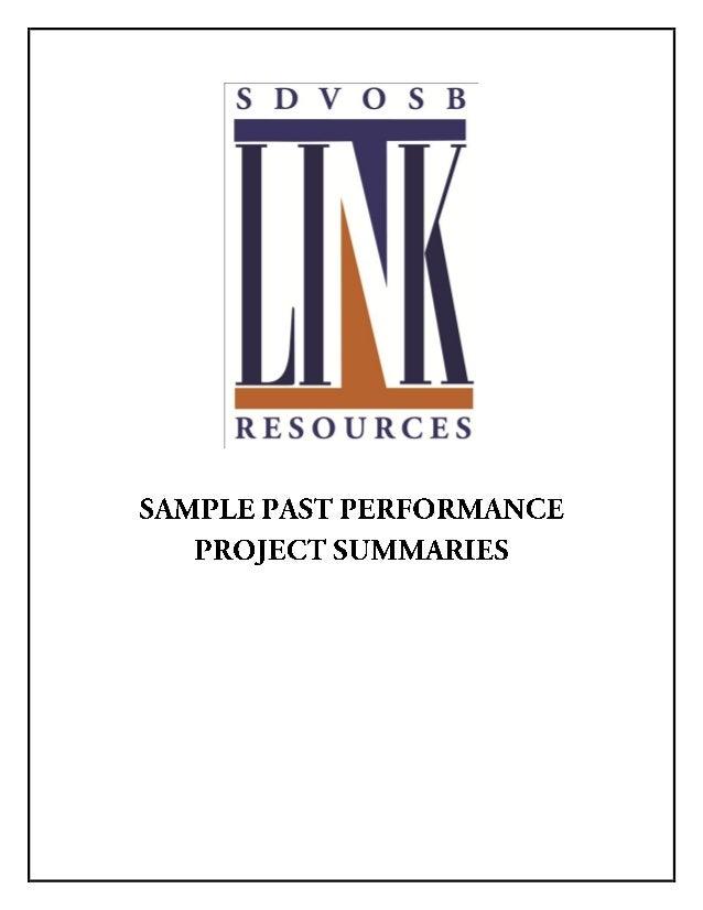 Link SDVOSB Past Performance Summaries