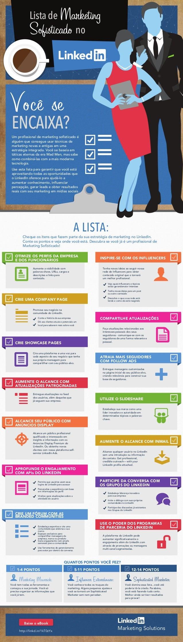 Marketing Sofisticado no LinkedIn - Infográfico