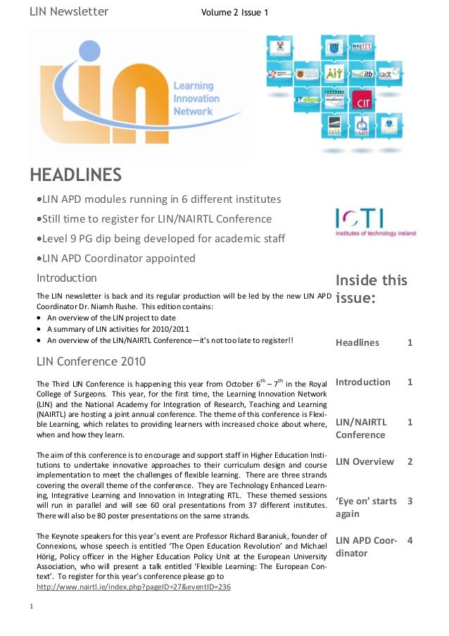 LIN Newsletter                                       Volume 2 Issue 1HEADLINES     LIN APD modules running in 6 different ...