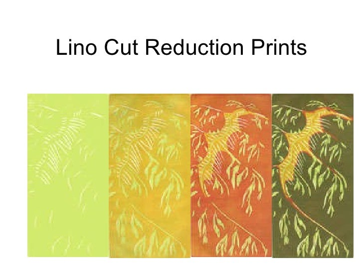 Lino Cut Reduction Prints