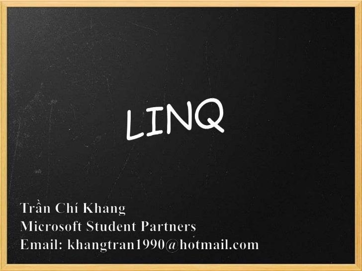 LINQ presentation