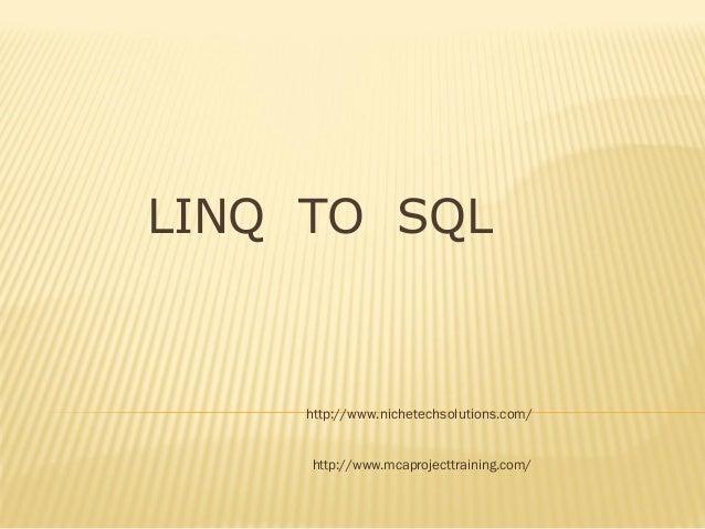 Introduction Of Linq , ASP.NET Training Ahmedabad, ASP.NET Course Ahmedabad