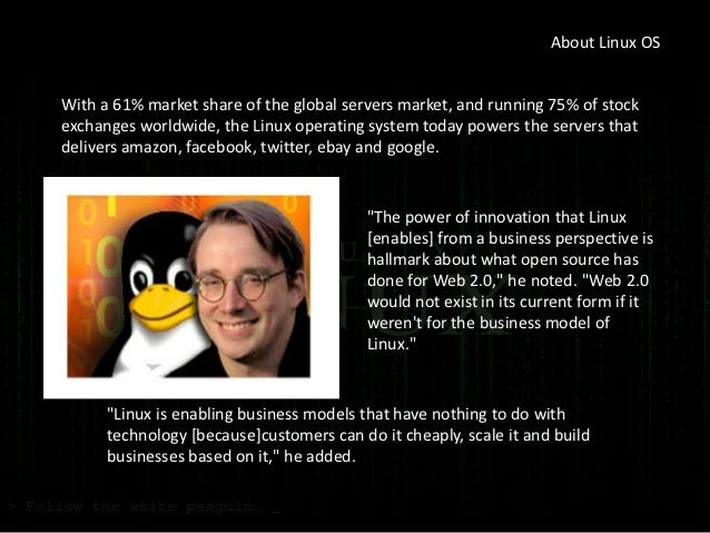 Linux: A Good Example of Open Source Software