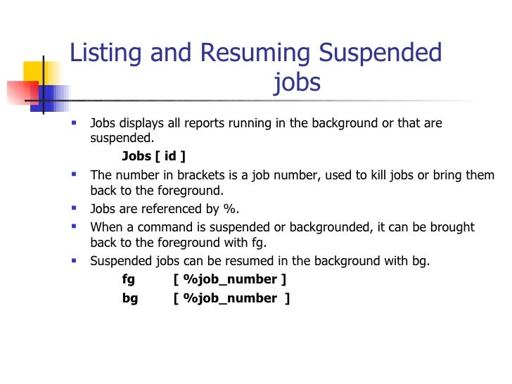 Linux resume stopped process