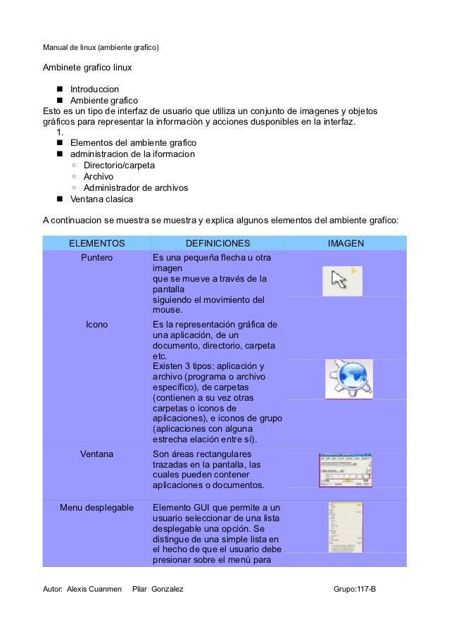 Manual de linux (ambiente grafico)Ambinete grafico linux    Introduccion    Ambiente graficoEsto es un tipo de interfaz ...