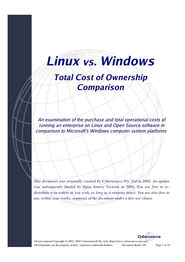 Linux Vs Windows Tco Comparison