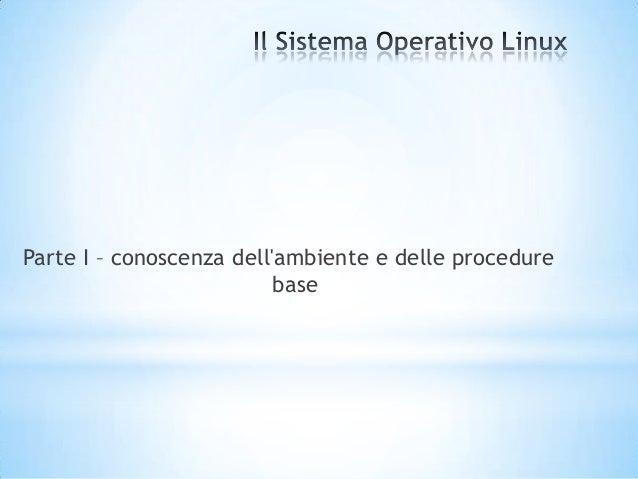 Sistema Operativo - LInux - Modulo 2.1