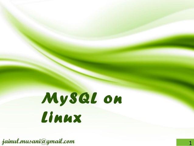 Linux17 MySQL_installation