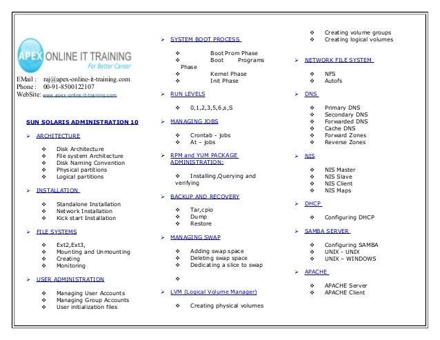 Linux admin course content(1)