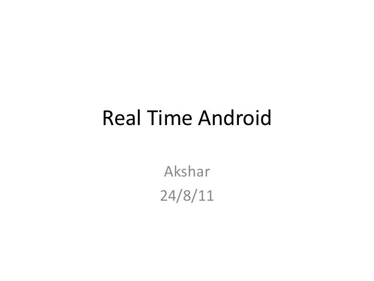 Android and Hard Real Time