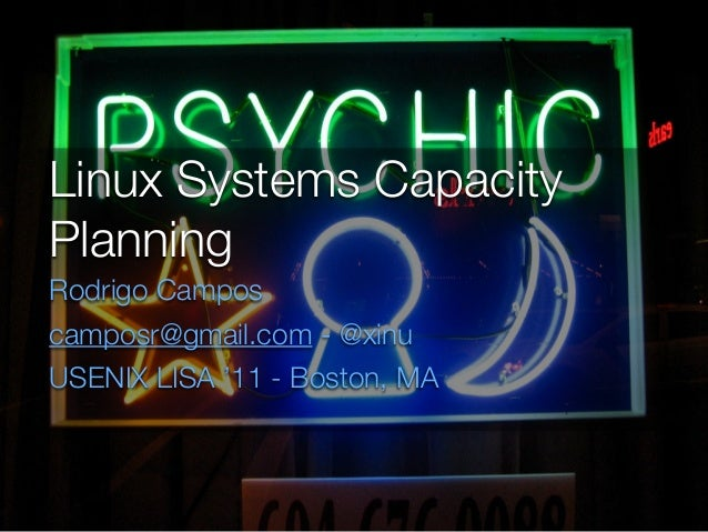 Linux capacity planning
