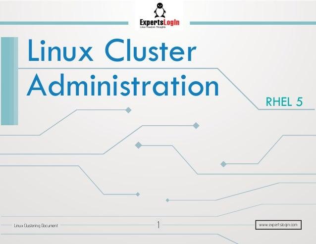 Linux Cluster Concepts