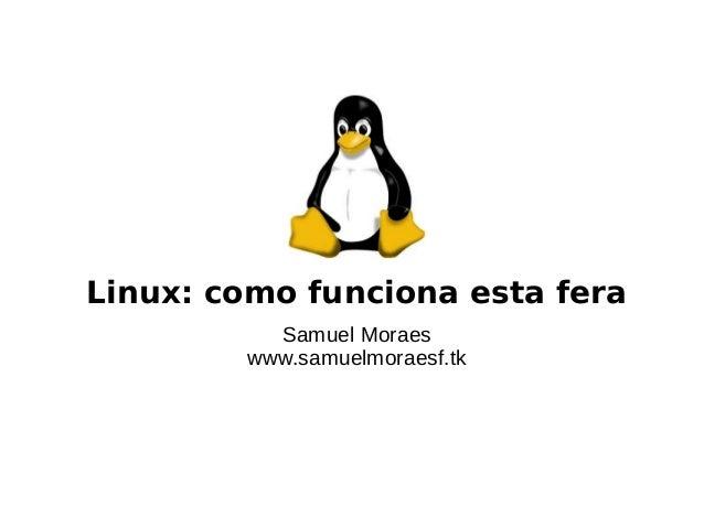 Linux: como funciona esta feraSamuel Moraeswww.samuelmoraesf.tk