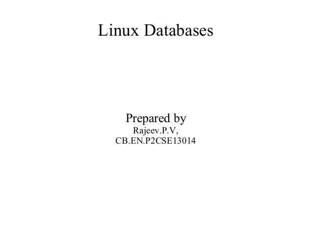 Linux databases