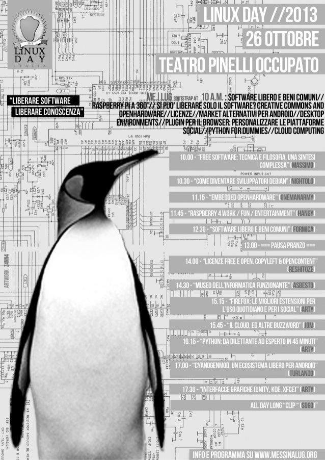 Linuxday2013 locandina bw