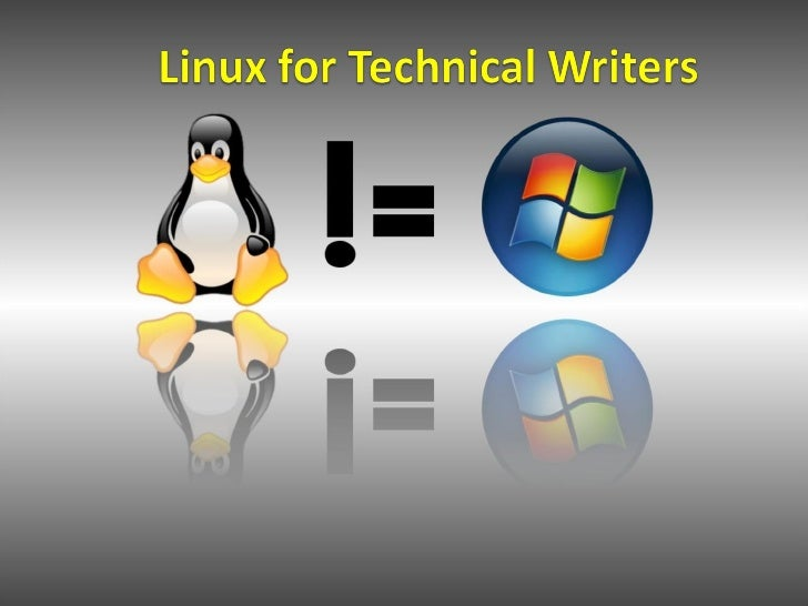 Linux for Technical Writers