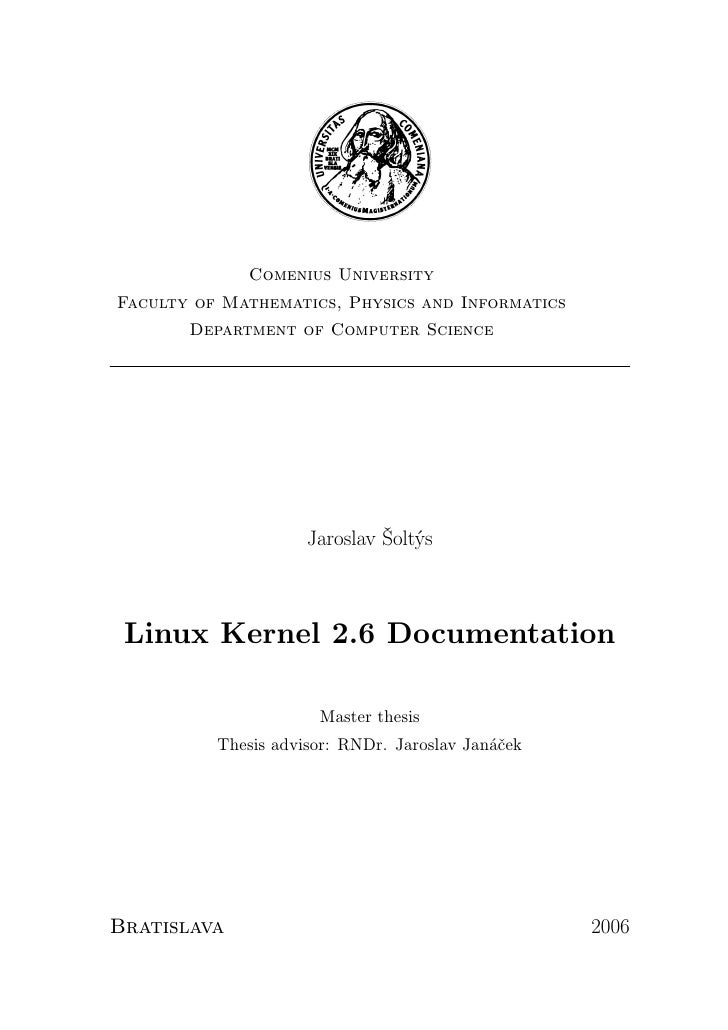 Linux kernel 2.6 document