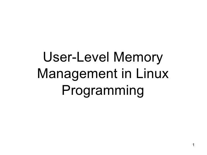 Linux memorymanagement