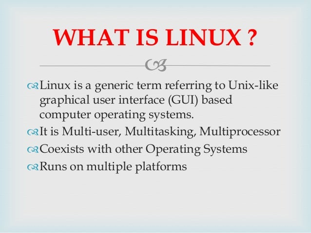advantages of linux operating system pdf