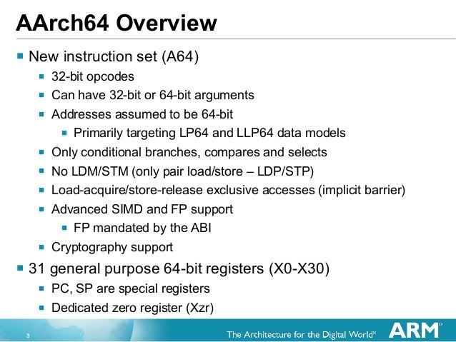 arm instruction set opcodes