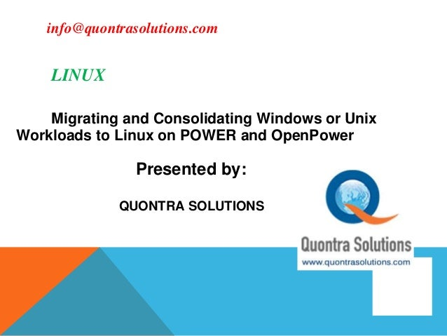 Linux online training tutorial by quontra solutions