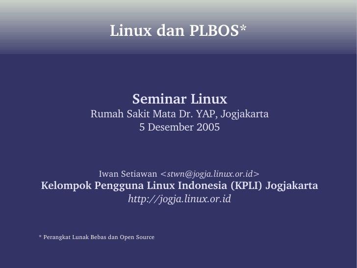 Linux dan PLBOS