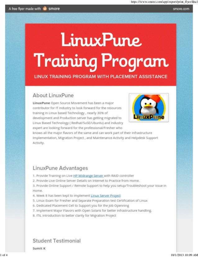 Linux pune training_institute_placement_center