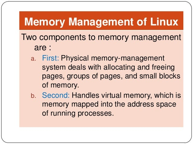 compare the memory management of windows with linux Today i like to write a bit about memory management  how does microsoft hyper-v manages its memory until windows server  they are too different to compare.