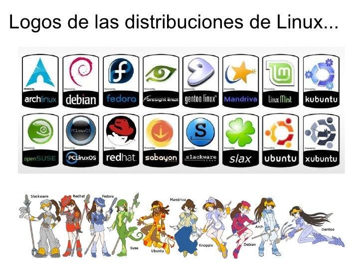 Logos de las distribuciones de Linux.