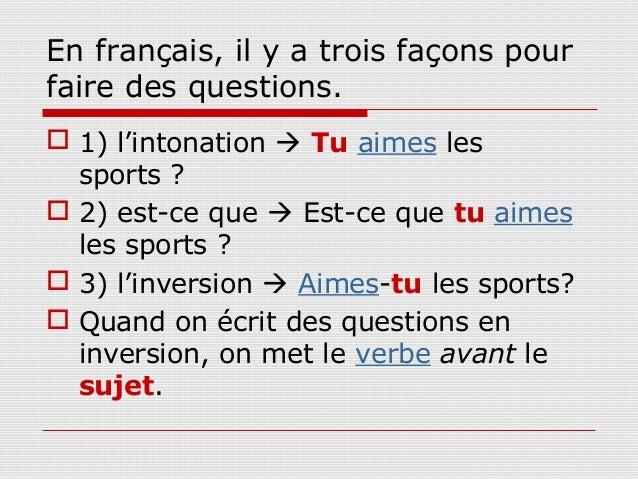Zdania i pytania - zadawanie pytań 6 - Francuski przy kawie