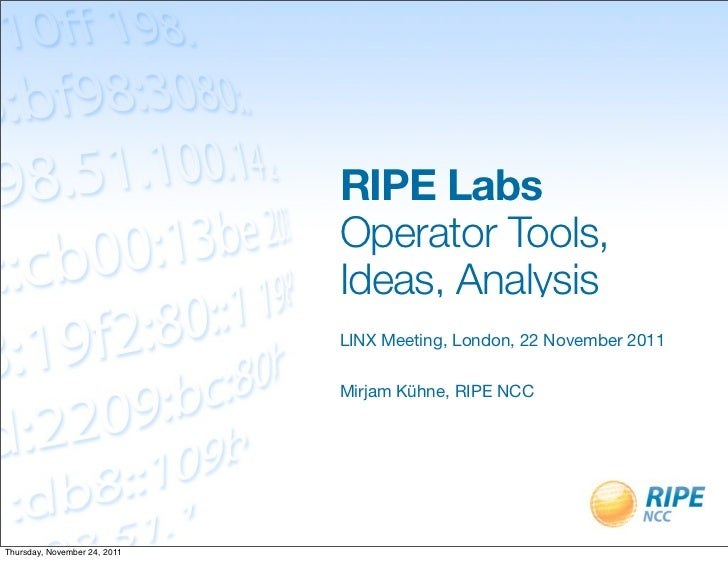 RIPE Labs Update