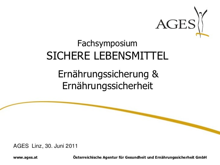 Ingrid Kiefer: Unternehmenspräsentation AGES Linz