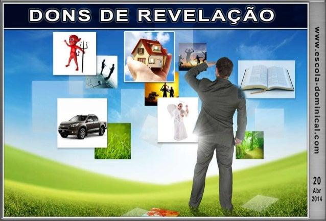 LIÇÃO 03 – DONS DE REVELAÇÃO