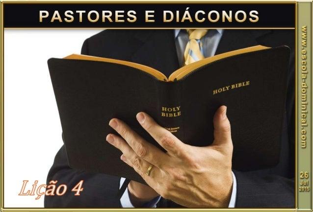 Introdução. Paulo dá inicio ao capítulo três da Primeira Epístola de Timóteo, falando a respeito do trabalho pastoral. Ser...