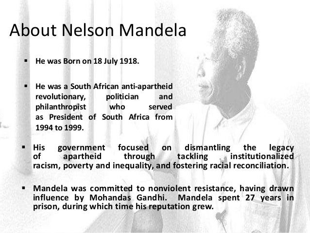 Editing an essay nelson mandelas leadership