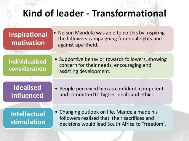effects of charismatic leadership nelson mandela Read this essay on leadership - nelson mandela 3 mandela – the charismatic leader his lifetime that have a negative effect on.