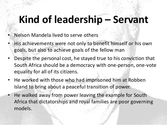 a role model leadership nelson mandela Great post and i agree that nelson mandela has shown many leadership traits and is an martin luther king jr, and gandhi to role model peace utilizing.