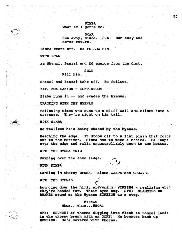 Lion King Return of The King Lion King,-script