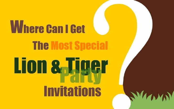 Lion & Tiger Party Invitations
