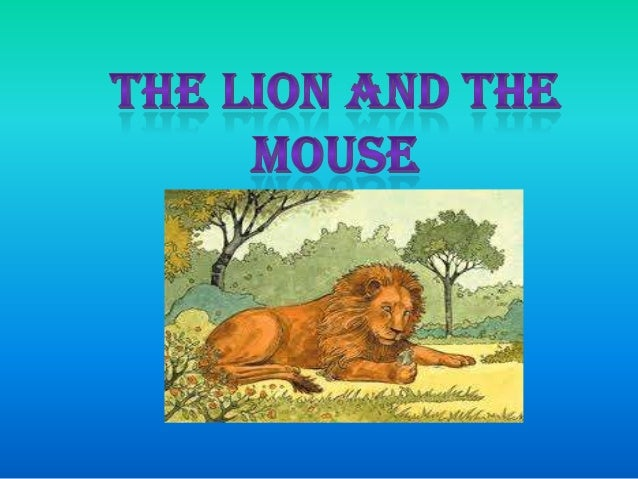 Lion and mouse (CLAUDIA MAMANI QUISPE)