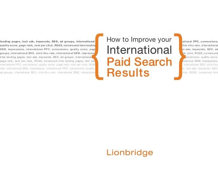 Lionbridge GMO Global Search Marketing eBook