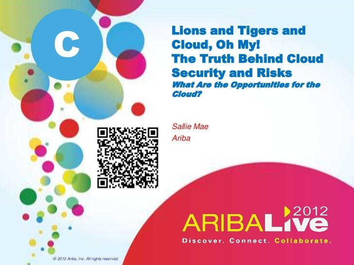 C                                          Lions and Tigers and                                          Cloud, Oh My!    ...