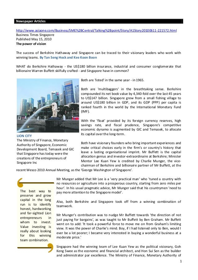 Newspaper Articleshttp://www.asiaone.com/Business/SME%2BCentral/Talking%2Bpoint/Story/A1Story20100611-221572.htmlBusiness ...