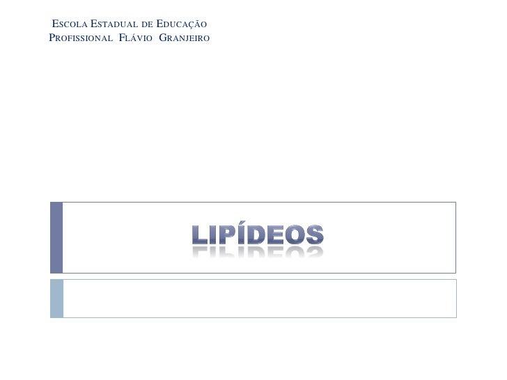ESCOLA ESTADUAL DE EDUCAÇÃOPROFISSIONAL FLÁVIO GRANJEIRO